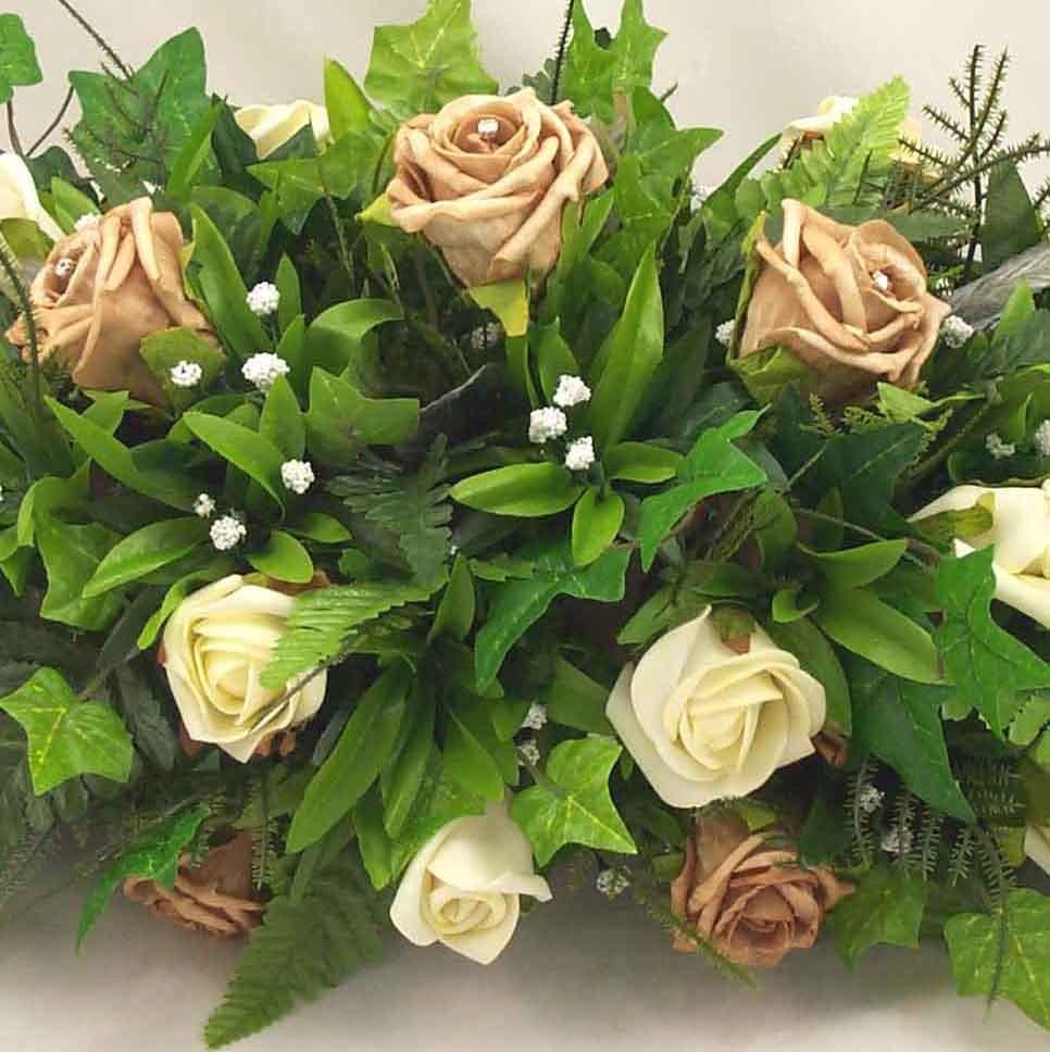 Ivory & Mocha Rose Table Arrangement