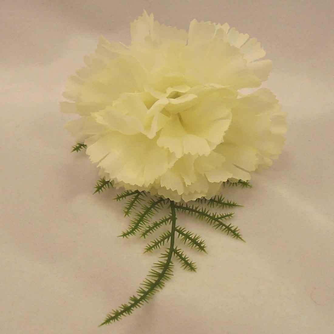 Ivory Carnation Fern Buttonhole