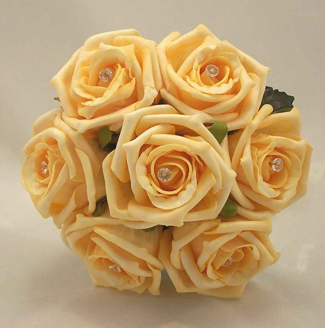 Gold Rose Diamante Children's Posy Bouquet