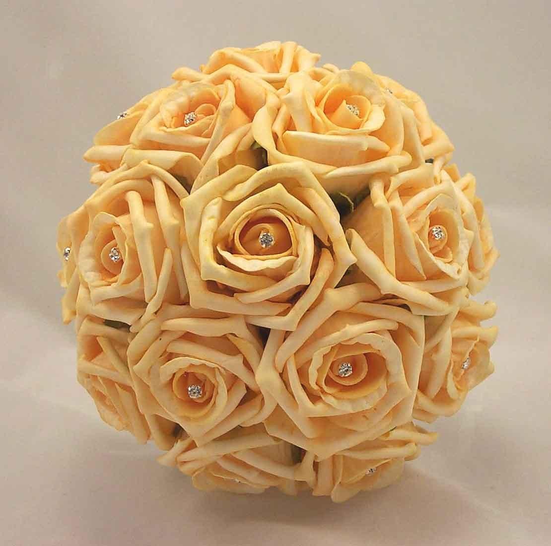 Gold Rose Diamante Bridesmaid's Bouquet