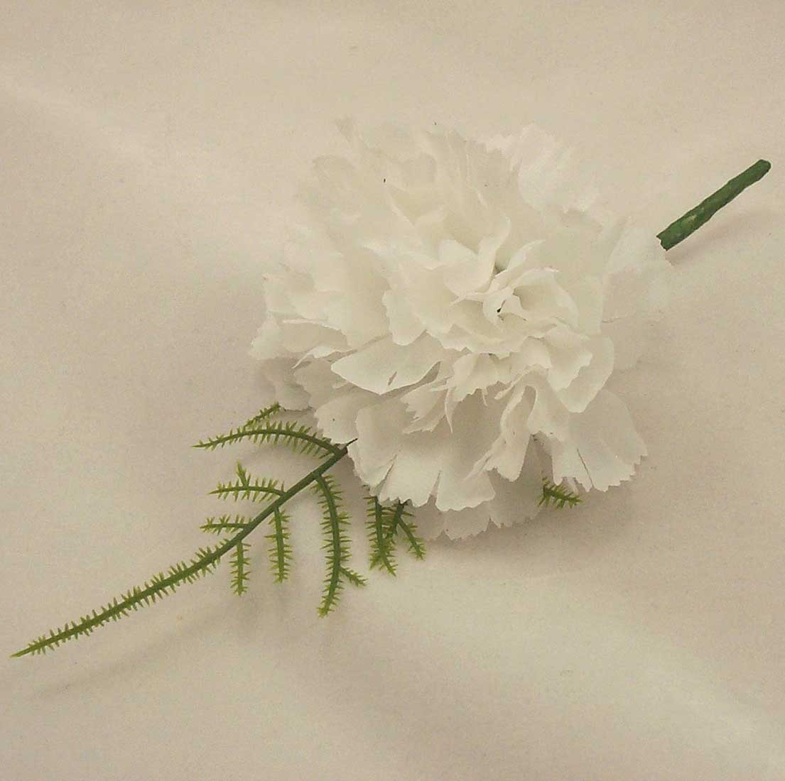 Guest Buttonholes White Carnation Fern Buttonhole Silk Wedding
