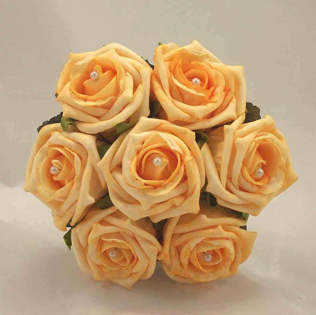 Gold Rose Children's Pearl Posy Bouquet