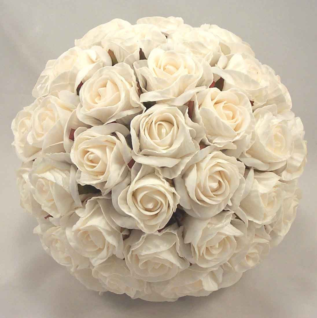 Crimped Cream Rose Bridal Bouquet
