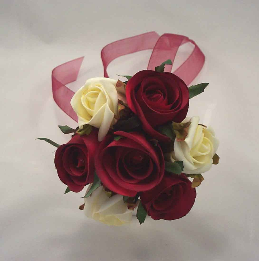 Burgundy & Ivory Rose Scattered Children's Posy