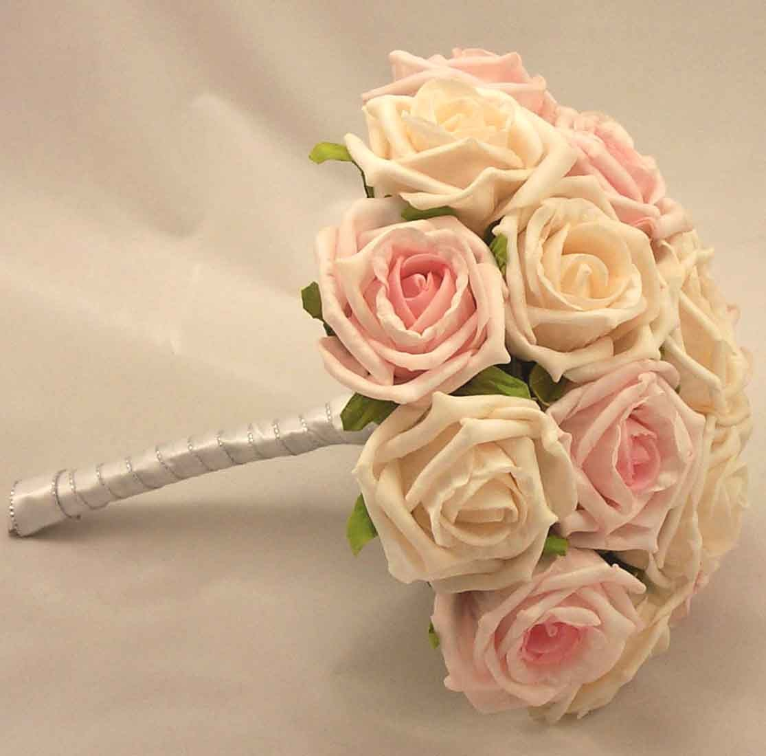Cream & Light Pink Bridesmaid's Posy
