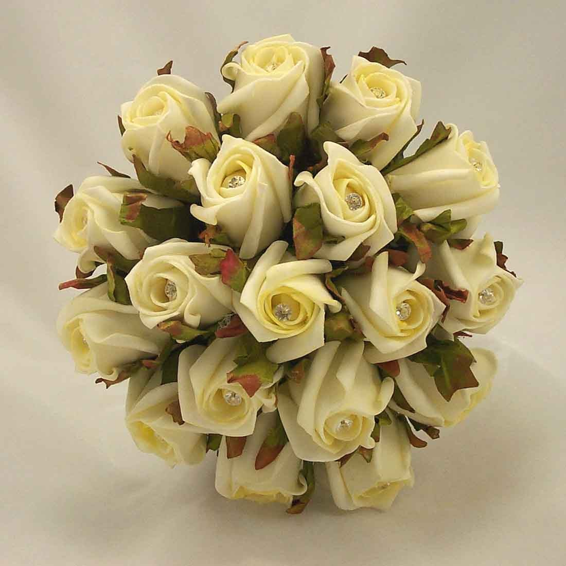Cream Jubilee Rose Diamante Bridesmaid's Posy