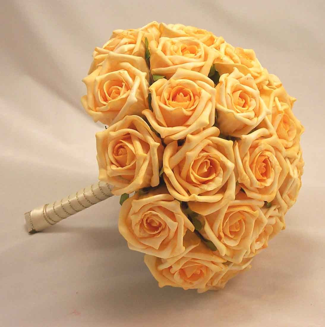 Gold Rose Bridal Bouquet