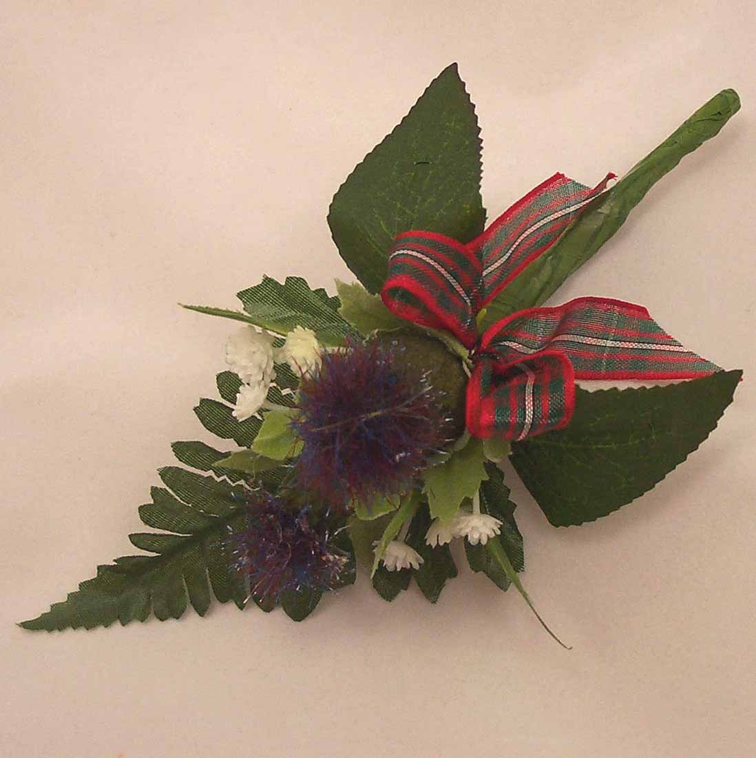 Groom's Thistle Buttonhole