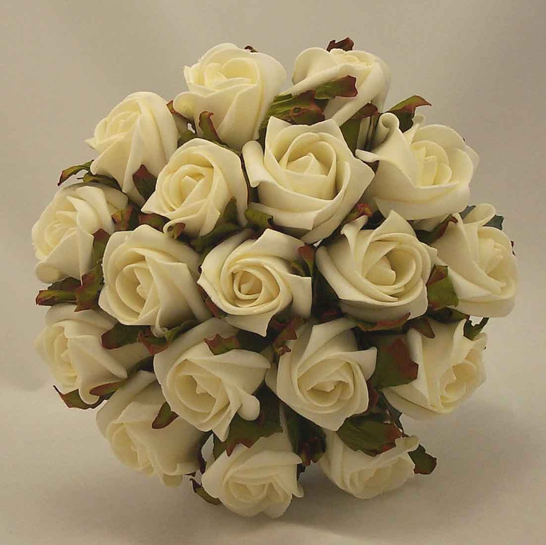 White Ivory Rose Bridesmaid's Bouquet
