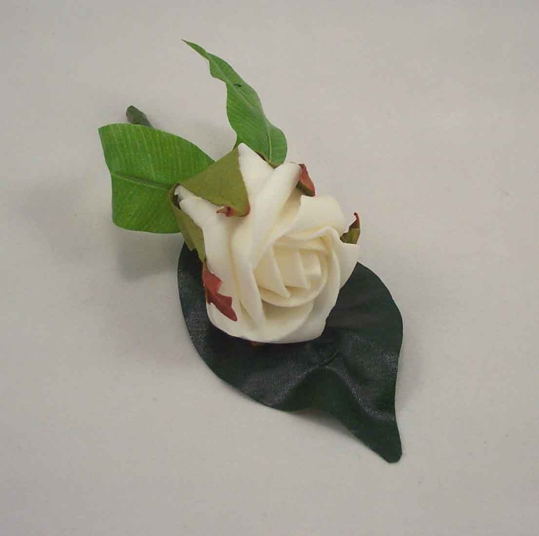 Single White Ivory Rose Buttonhole