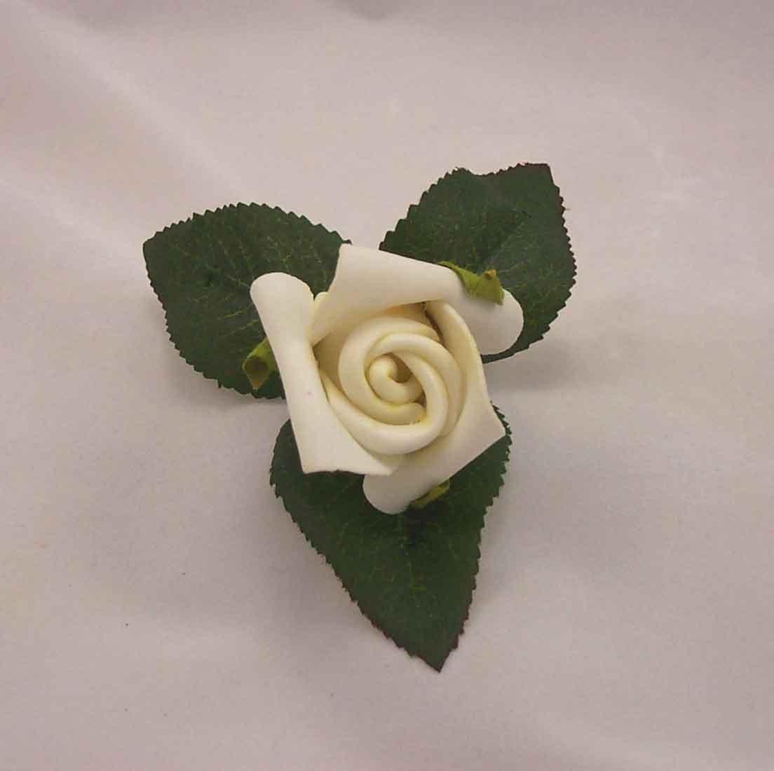 Single Ivory Rosebud Buttonhole