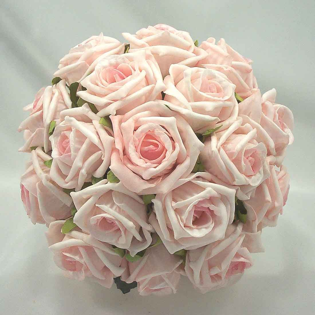 Bridesmaid\'s Bouquets - Light Baby Pink Rose Bridesmaid\'s Posy ...