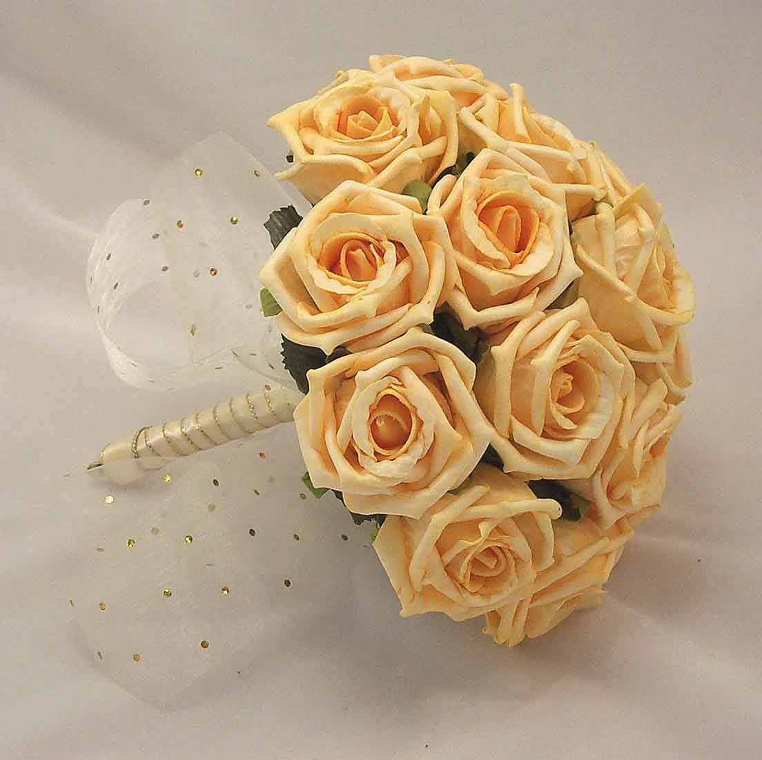 Gold Rose Bridesmaid's Bouquet