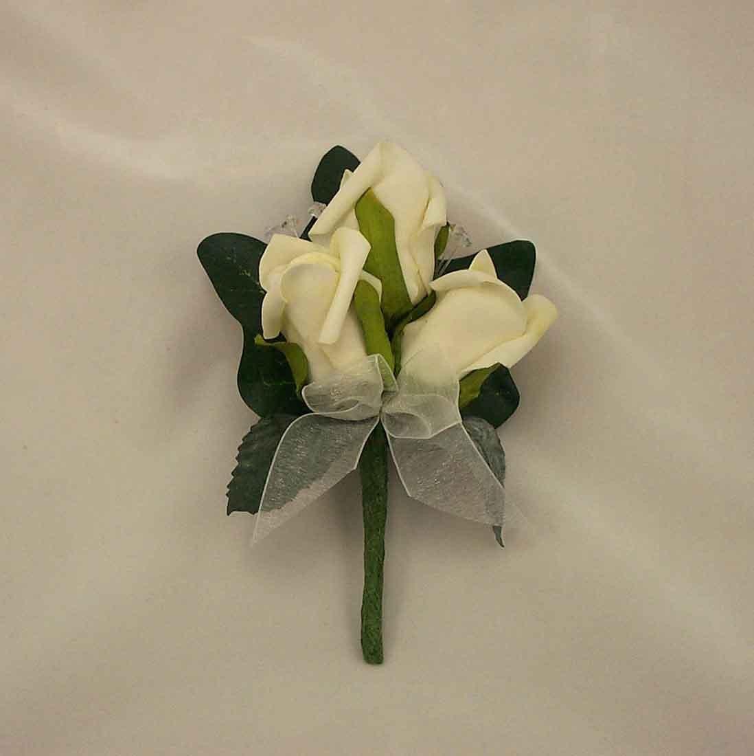Ivory Rosebud Corsage
