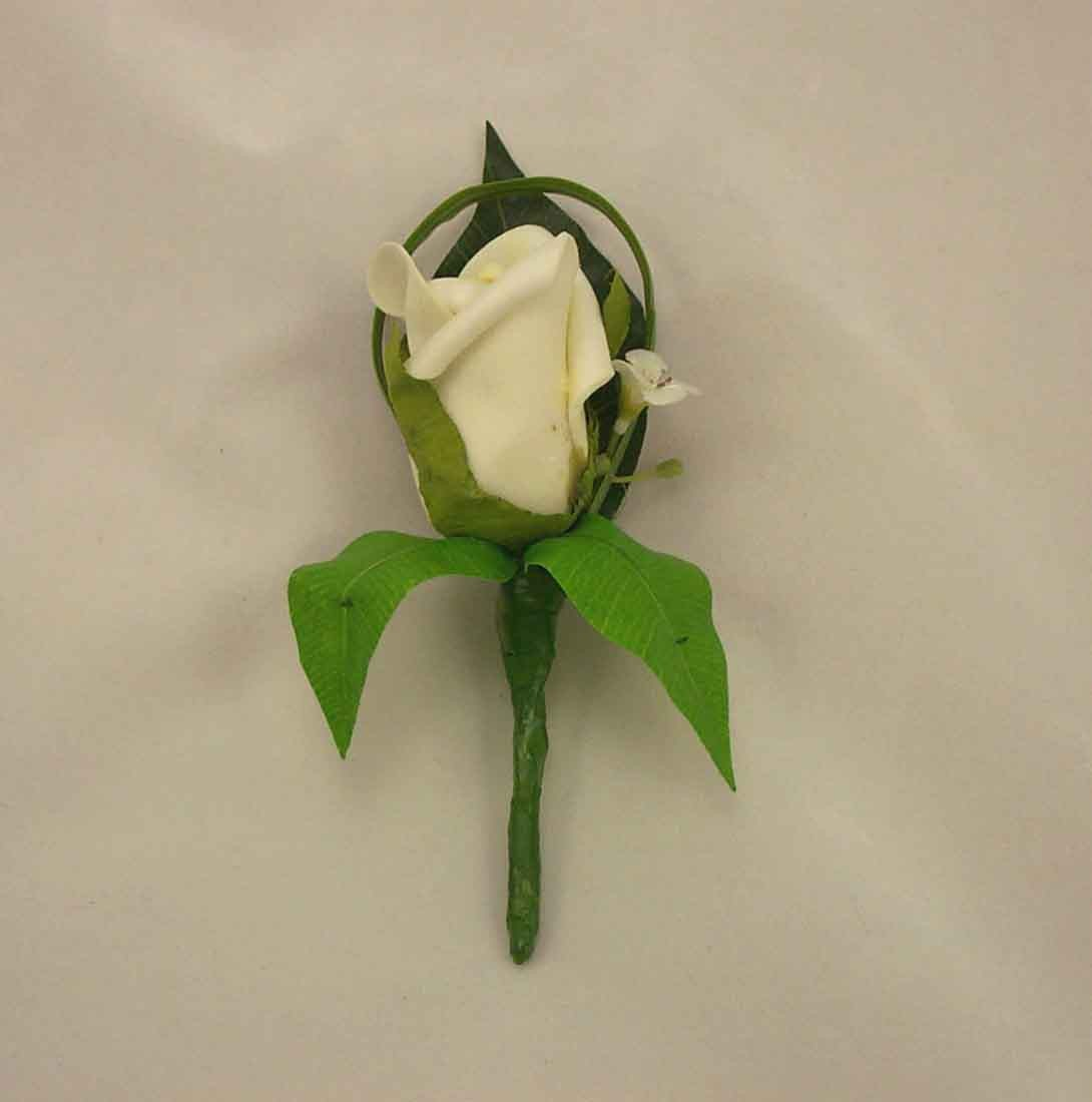 Single Ivory Rosebud Buttonhole