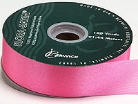 10m Length of Cerise Pink Poly Ribbon