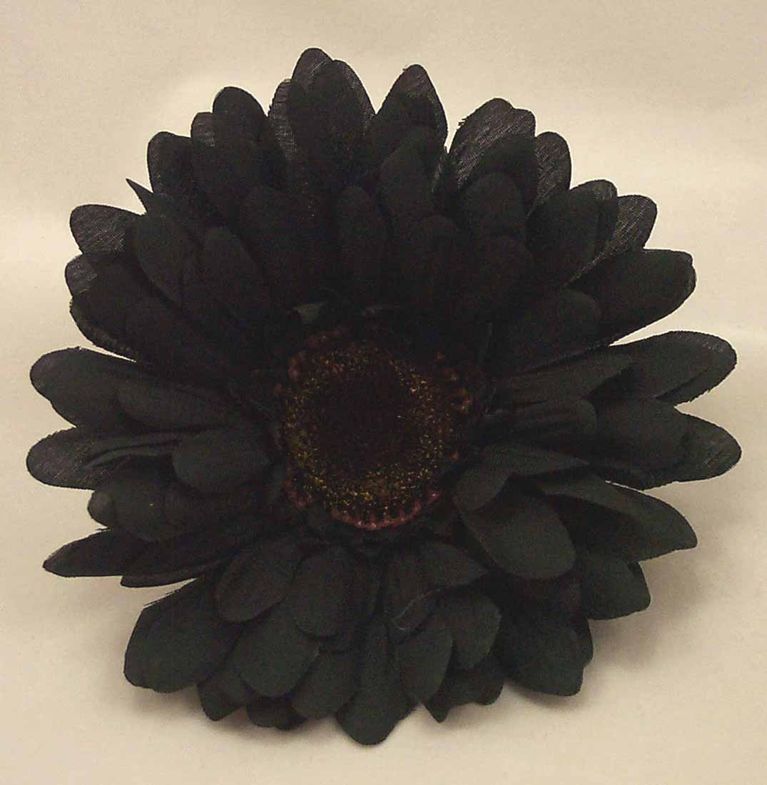 Loose Flowers 6 Silk Black Gerbera Daisies Artificial