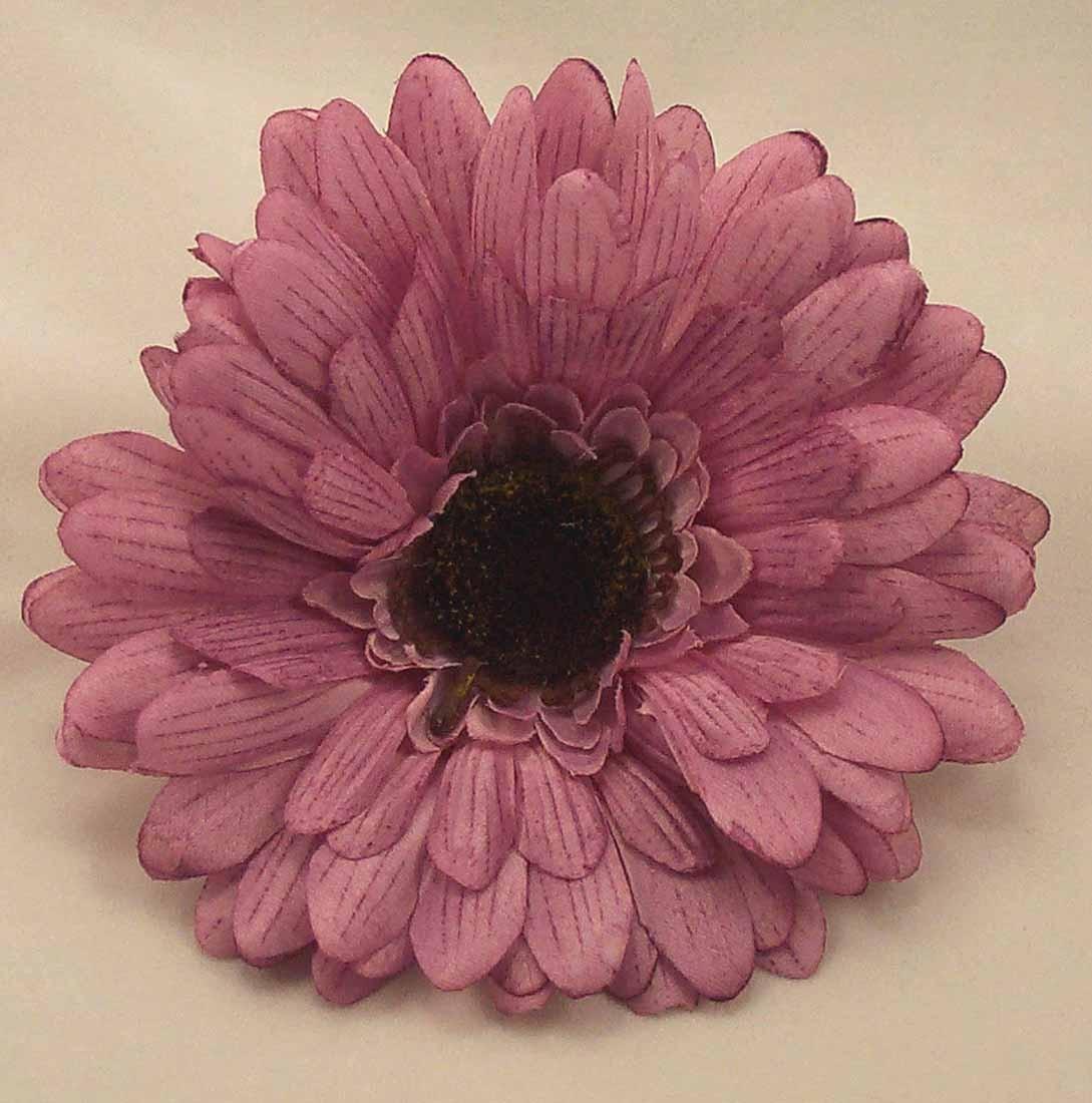 Loose Flowers 6 Silk Lavender Lilac Gerbera Daisies Artificial