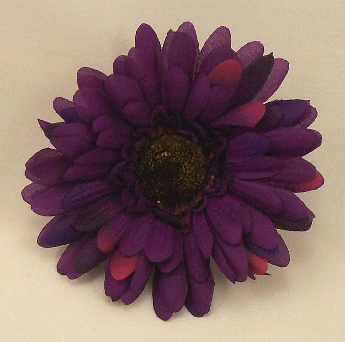 6 Silk Purple Gerbera