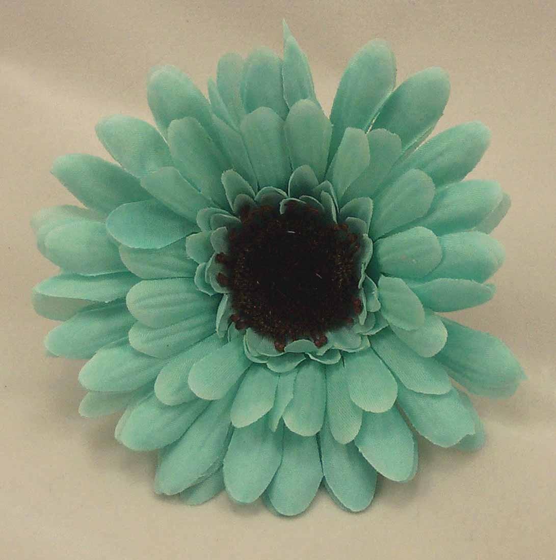 Aqua Turquoise Gerbera Sample