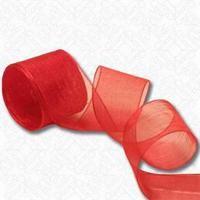 Red Organza Ribbon 70mm