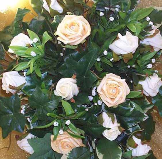 Gold & Ivory Rose Shower Bouquet
