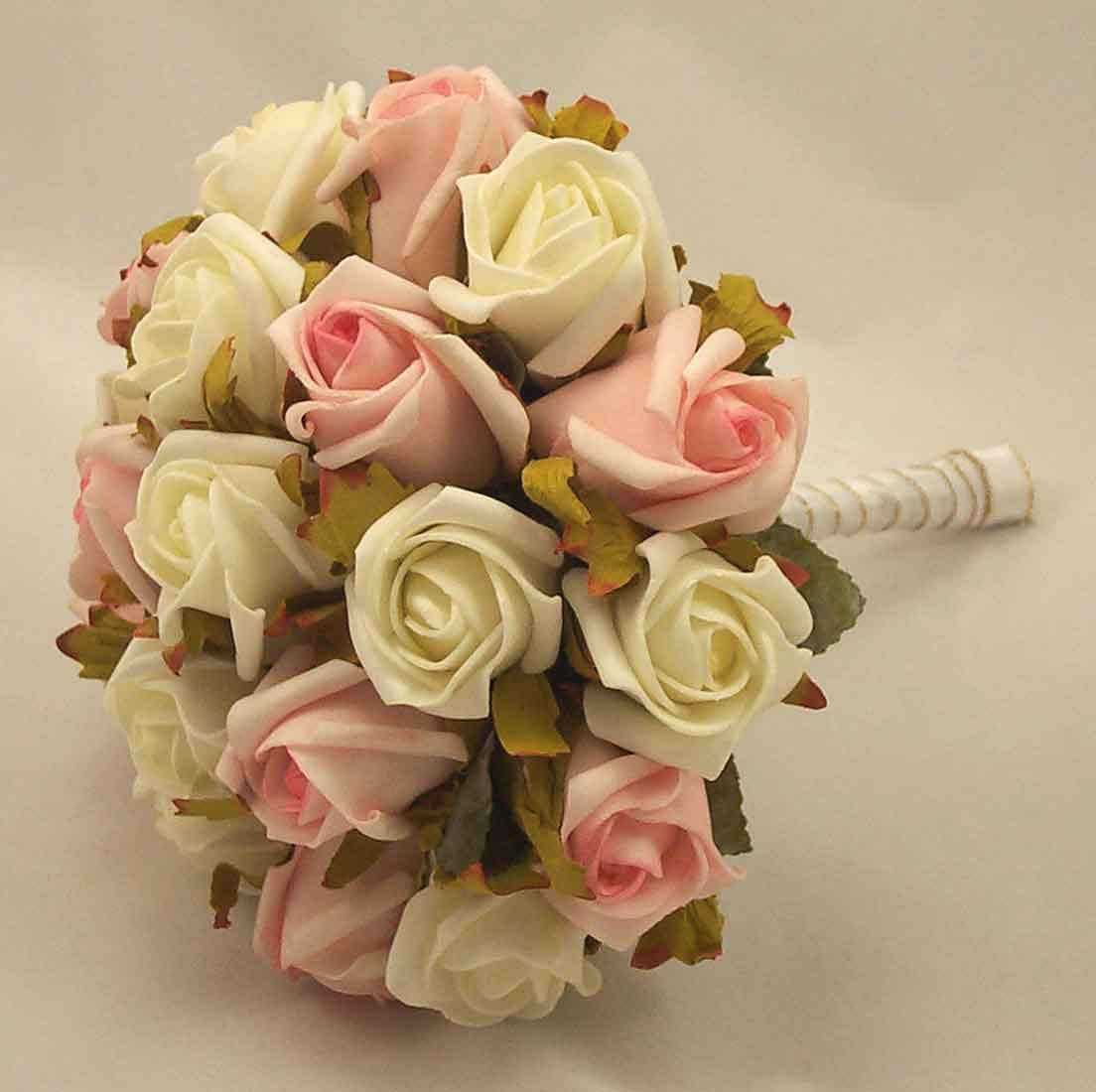Pink & White Jubilee Rose Bridesmaid's Bouquet