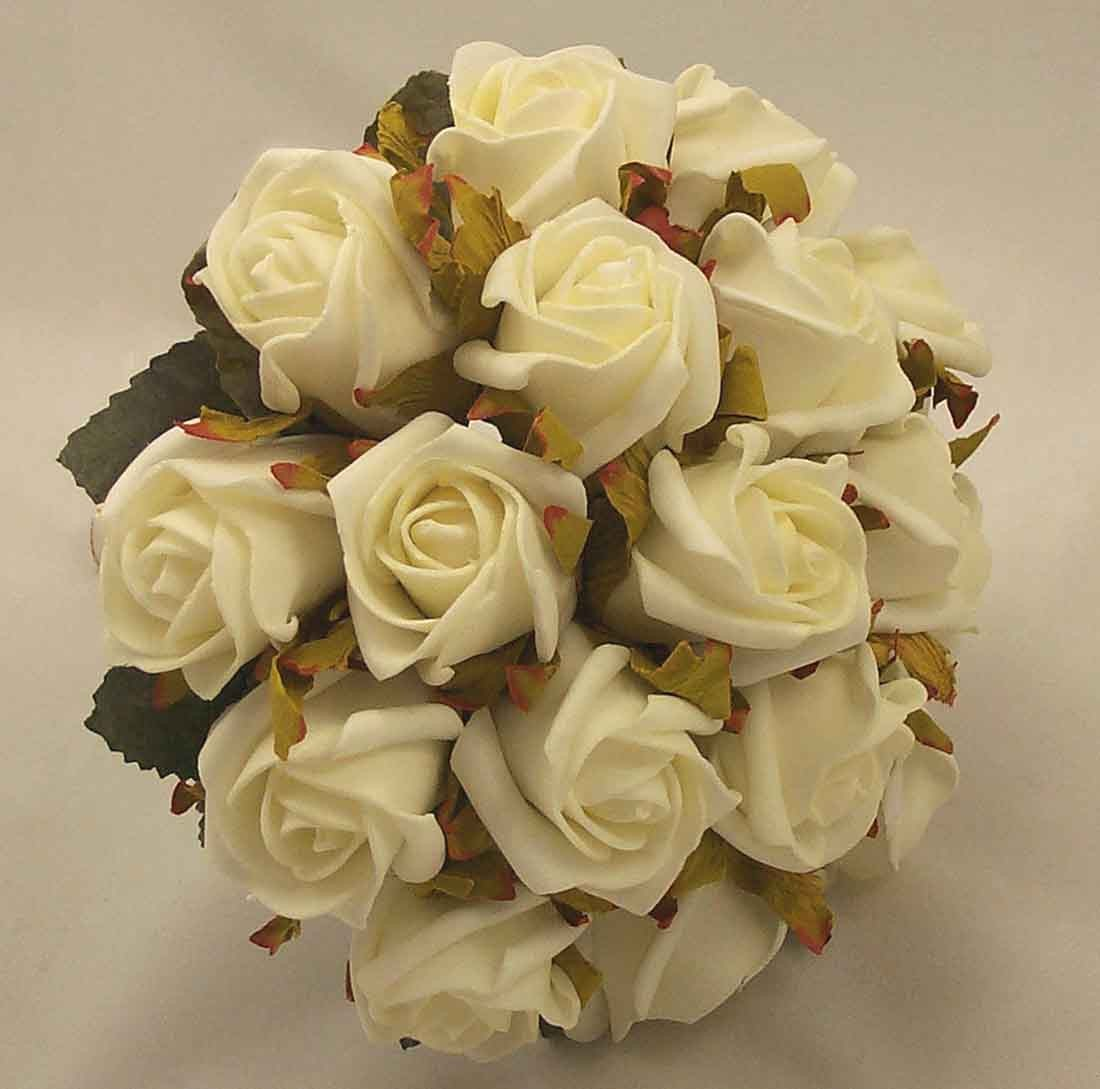 White Jubilee Rose Bridesmaid's Bouquet