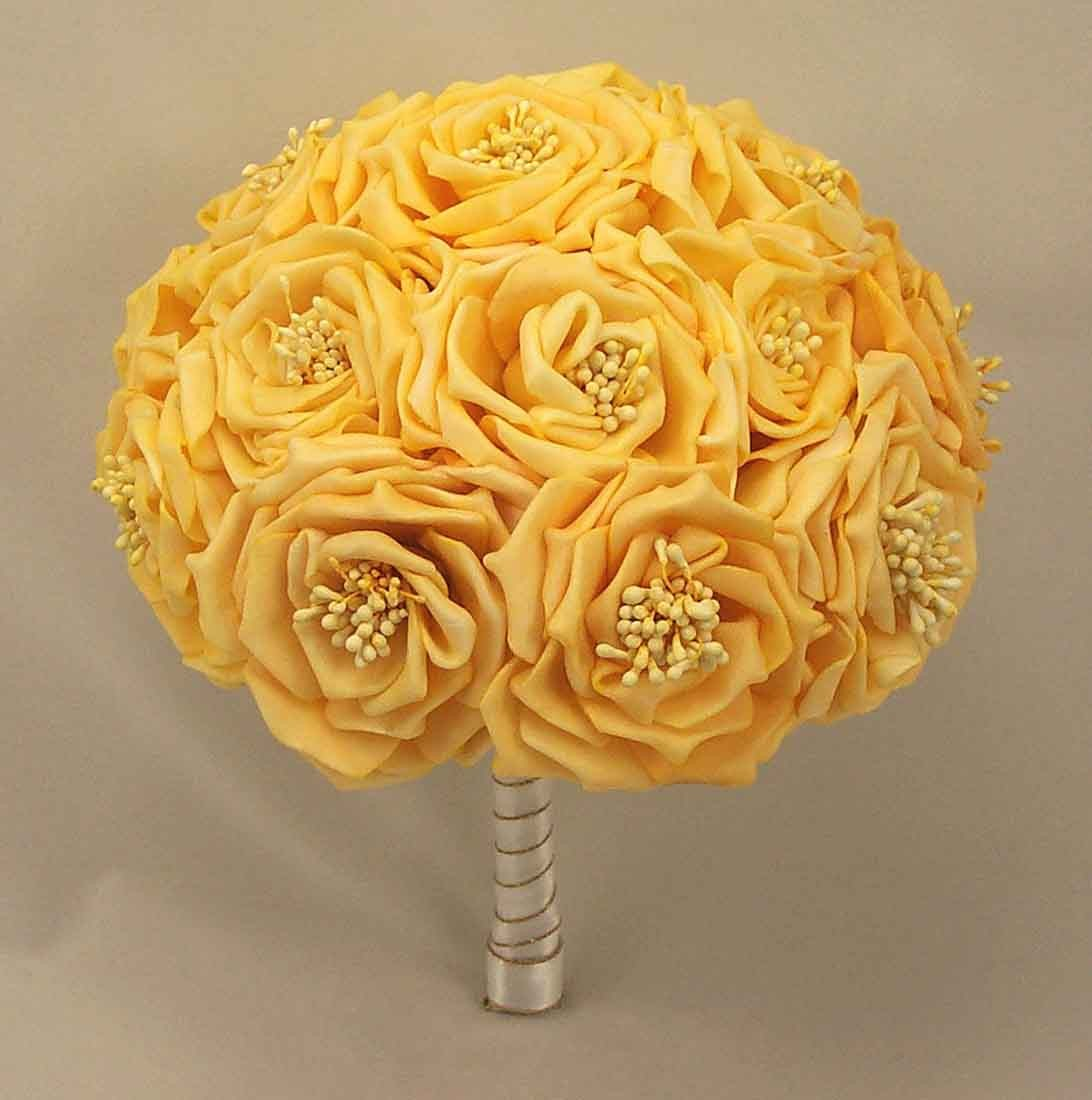 Wild Gold Rose Table Posy