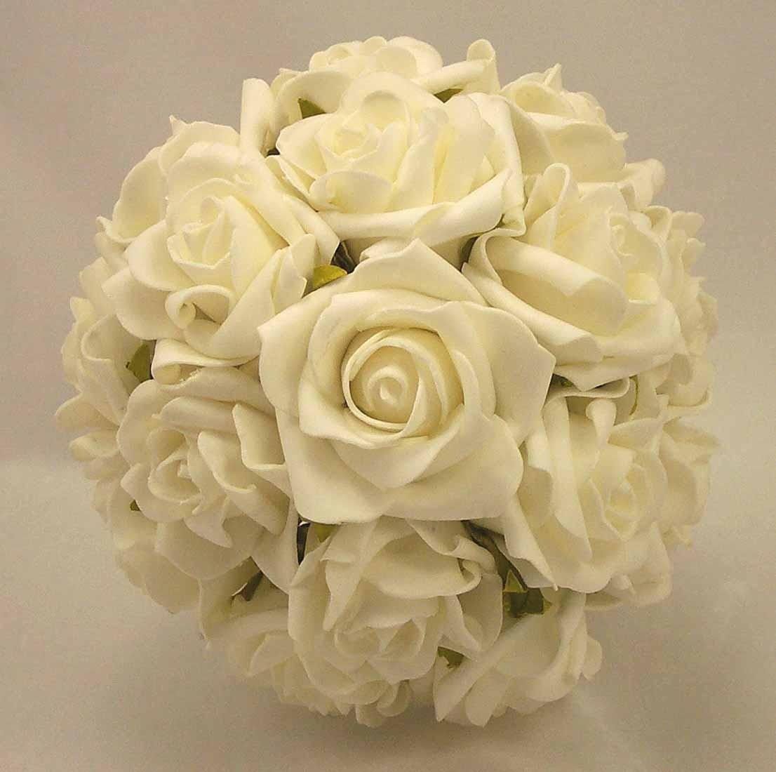 Pearl White Rose Bridesmaid's Bouquet