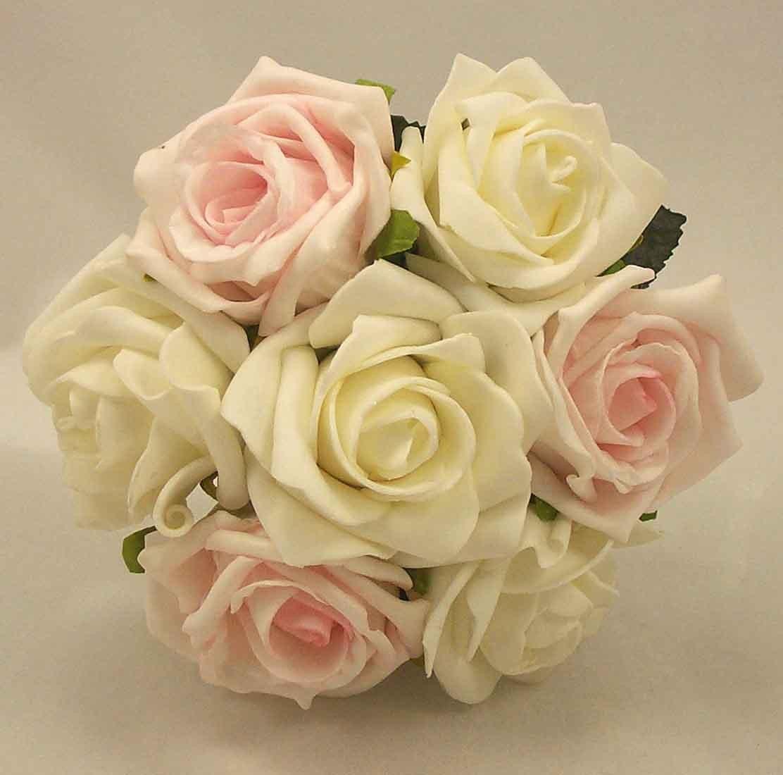 Pink & White Rose Children's Posy Bouquet