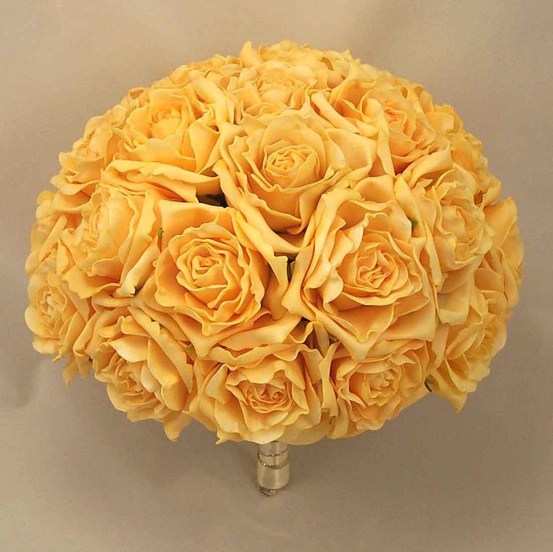 Large Luxury Gold Rose Table Posy