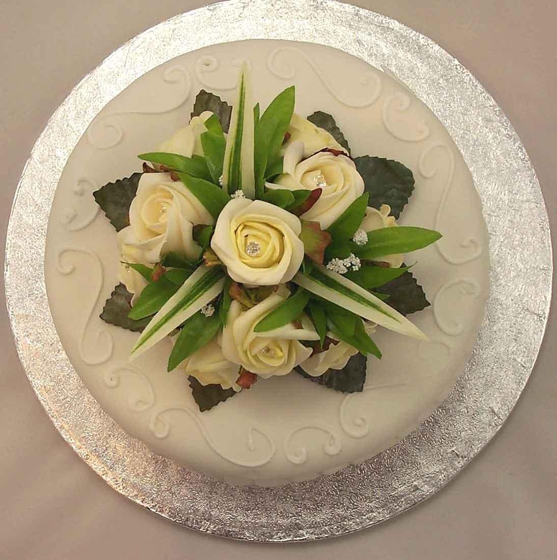 Ivory Rose Luxury Diamante Cake Topper