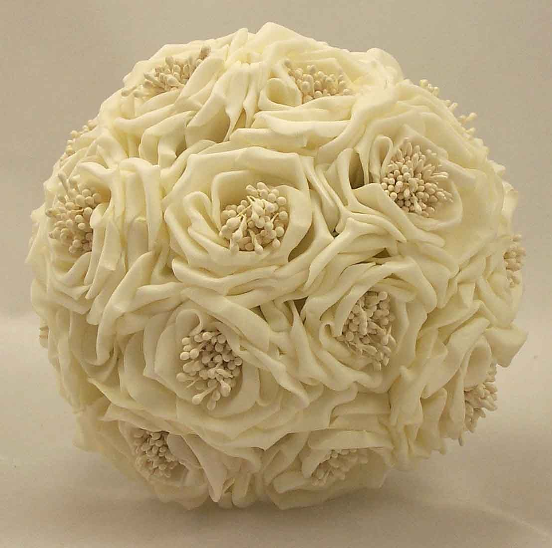 Cream Wild Rose Bridesmaid's Bouquet
