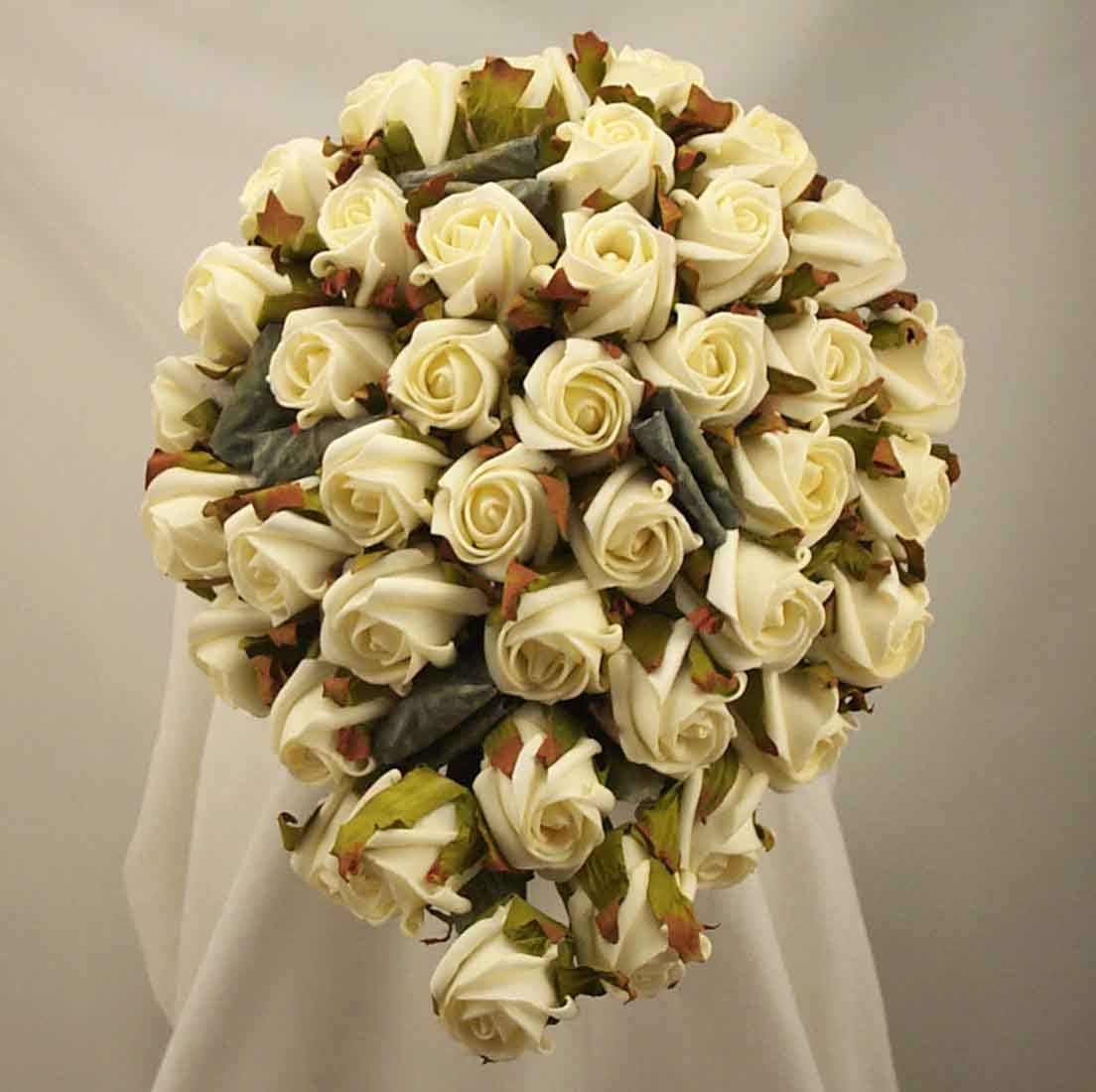 Ivory Jubilee Rose Shower Bouquet