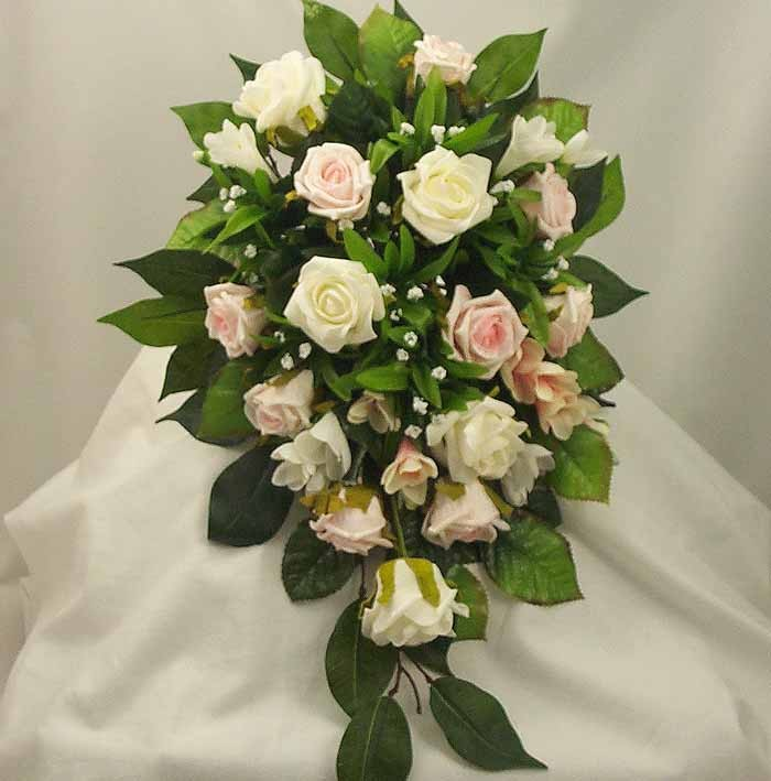 Pink & Cream Rose Shower Bouquet