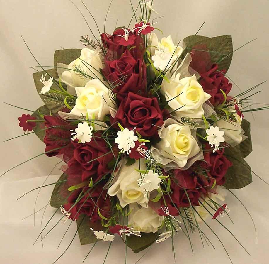 Ivory burgundy rose stephanotis posy bouquet bridal bouquets ivory burgundy rose stephanotis posy bouquet mightylinksfo