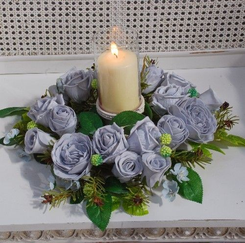 Lavender Garden Rose Centerpiece Table Decoration