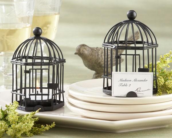 """Love Songs"" Birdcage Tea Light / Place Card Holder"