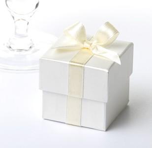 Ivory & Cream Ribbon Favour Boxes