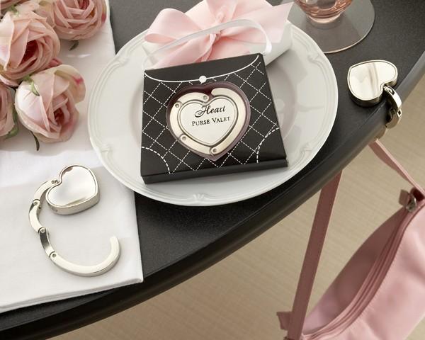 """Heart Purse Valet"" Compact Stainless Steel Handbag Holder"