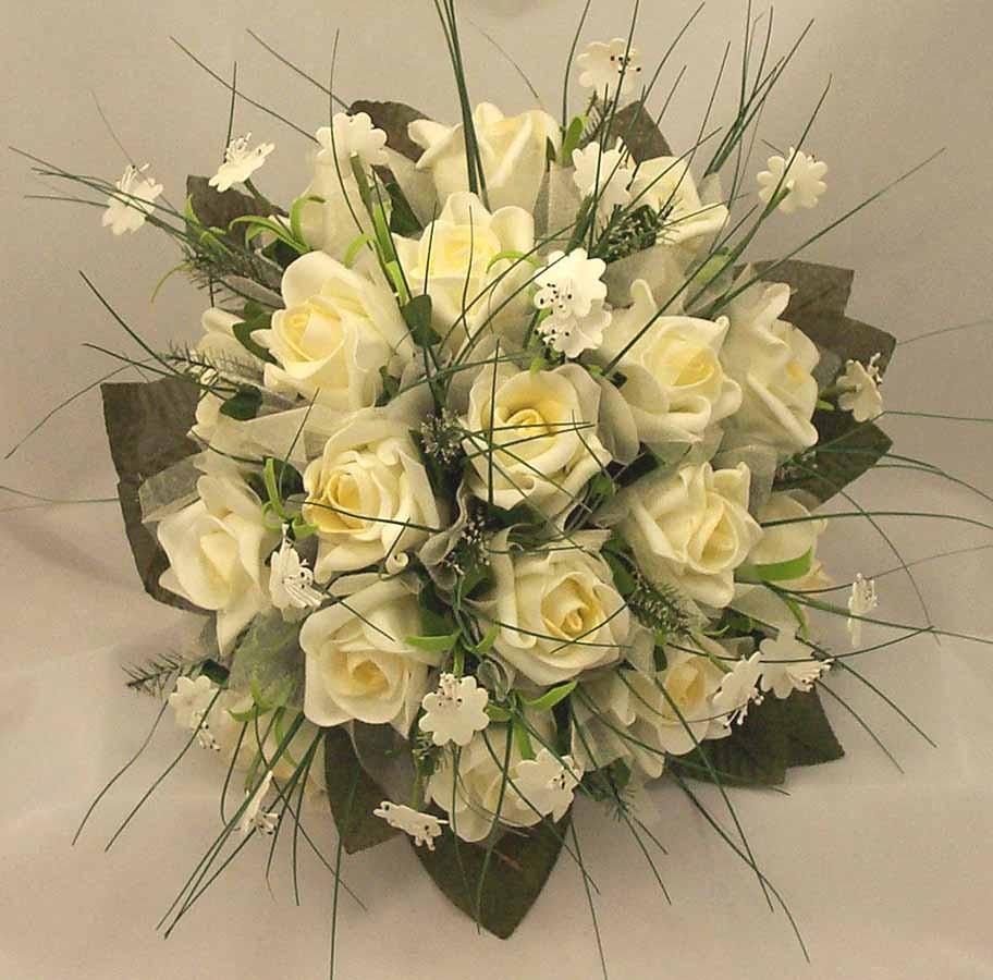 Ivory Rose & Stephanotis Posy Bouquet