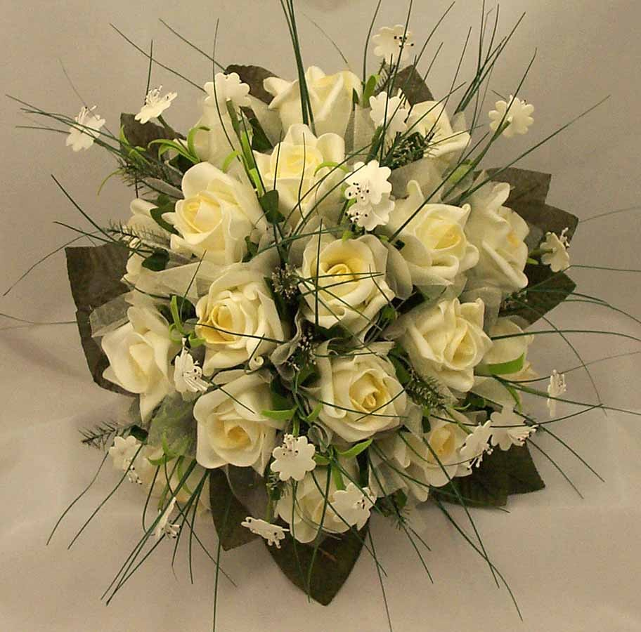 Cream Rose & Stephanotis Posy Bouquet
