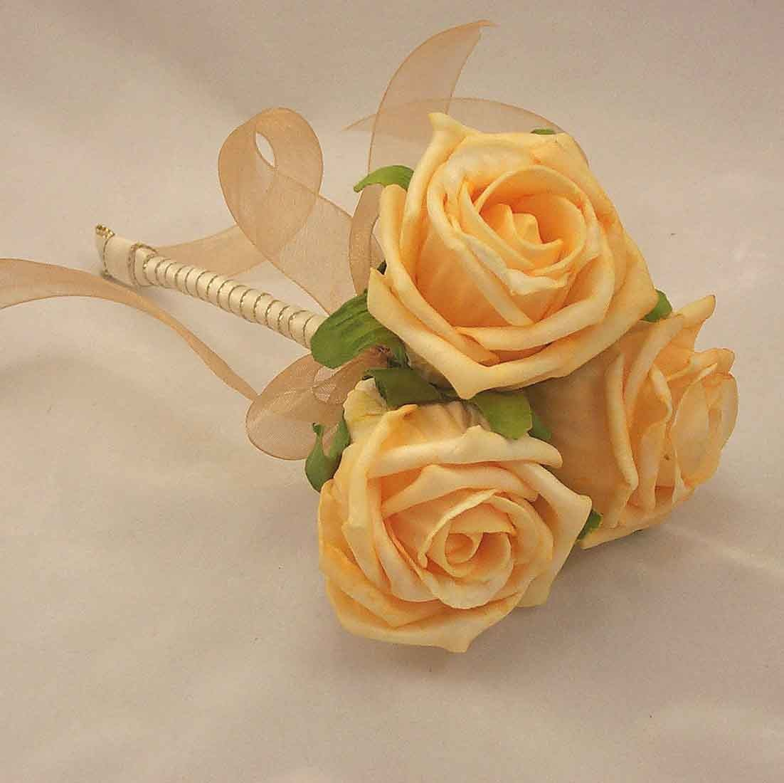 Gold Rose Mini Flowergirl's Posy