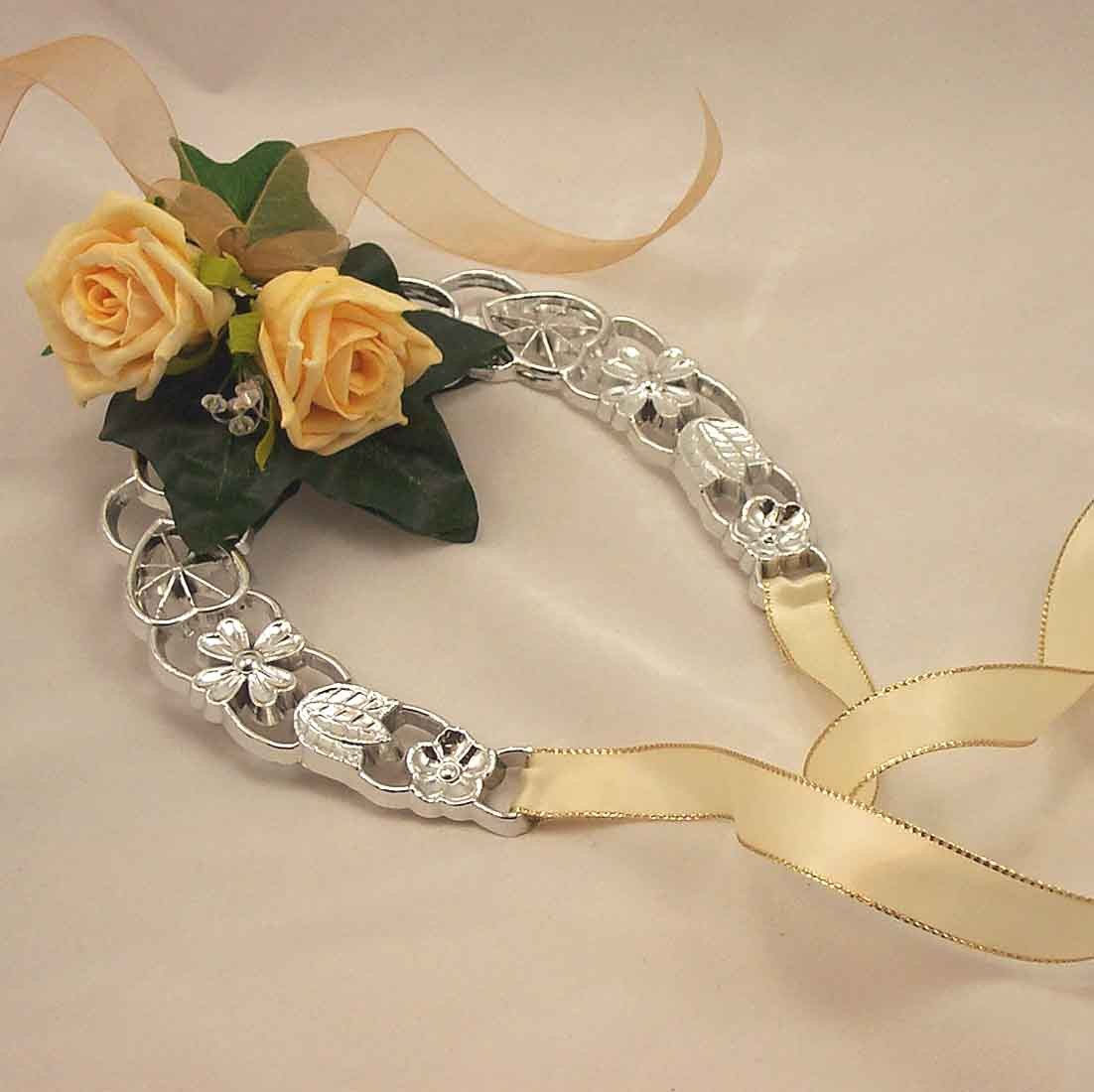 Gold Rose Lucky Horseshoe