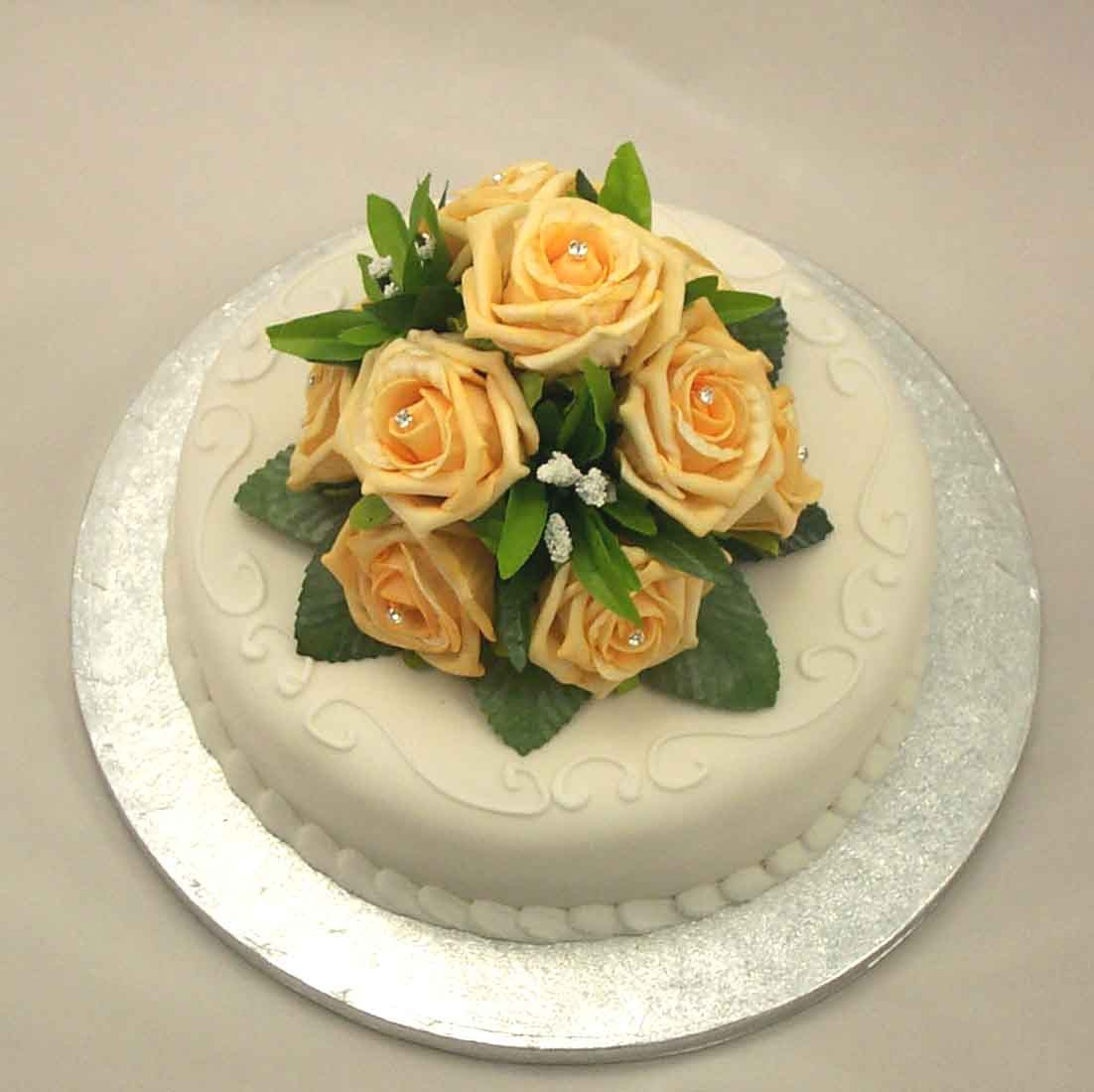 Gold Rose Luxury Cake Topper