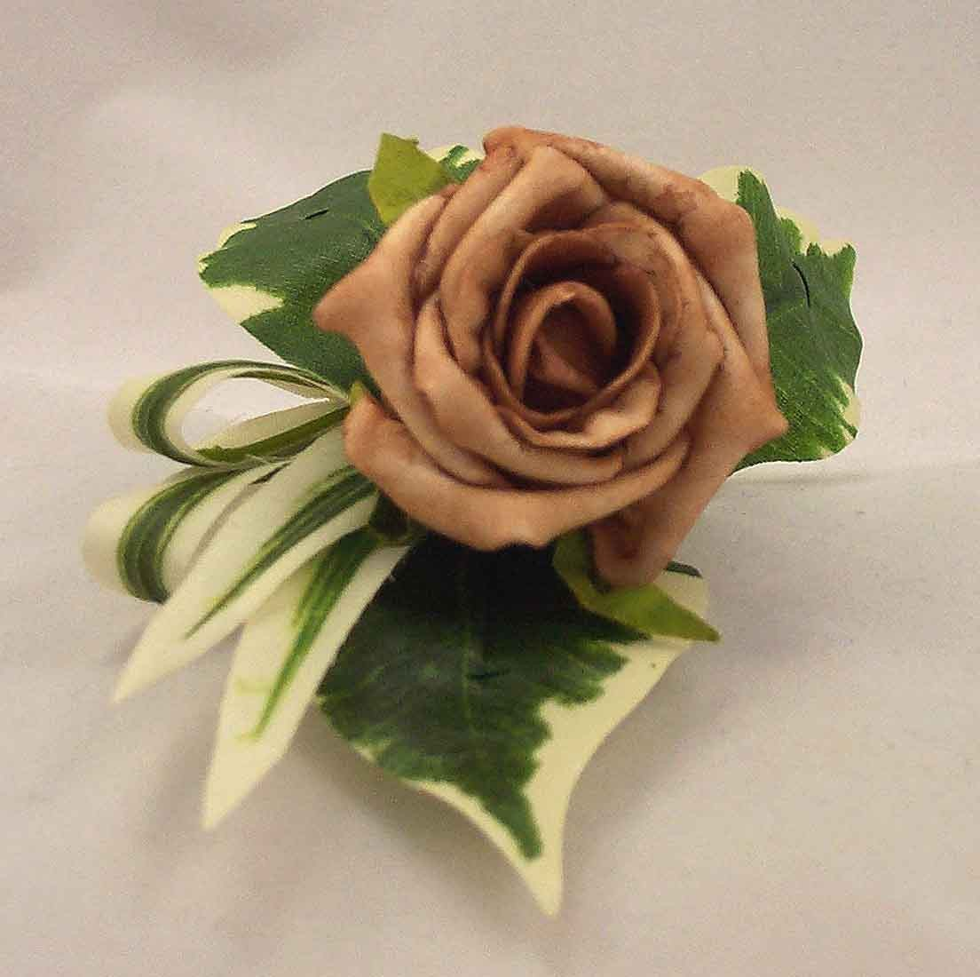 Single Mocha Rose Buttonhole