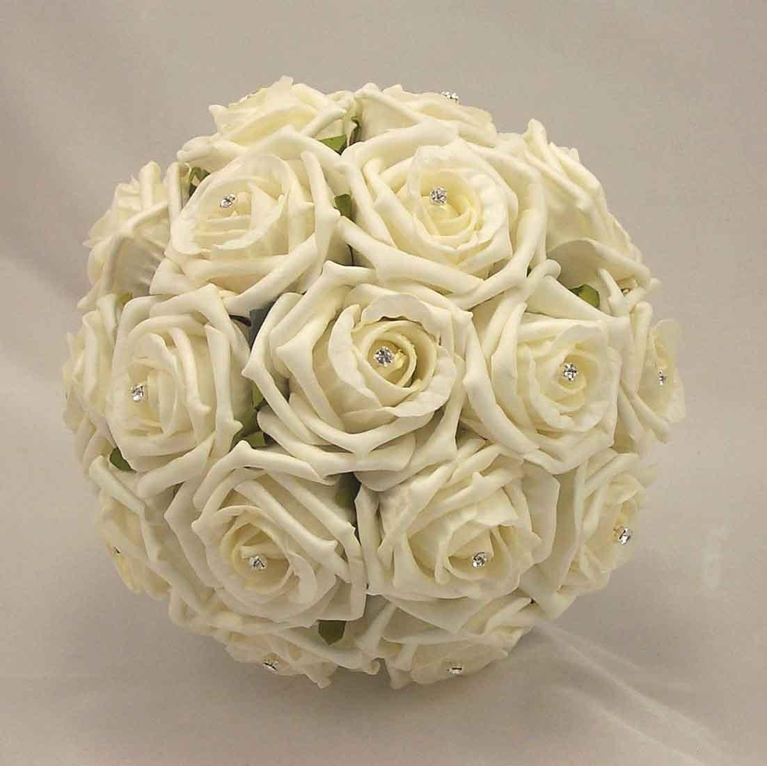 Ivory Rose Diamante Bridesmaid's Bouquet