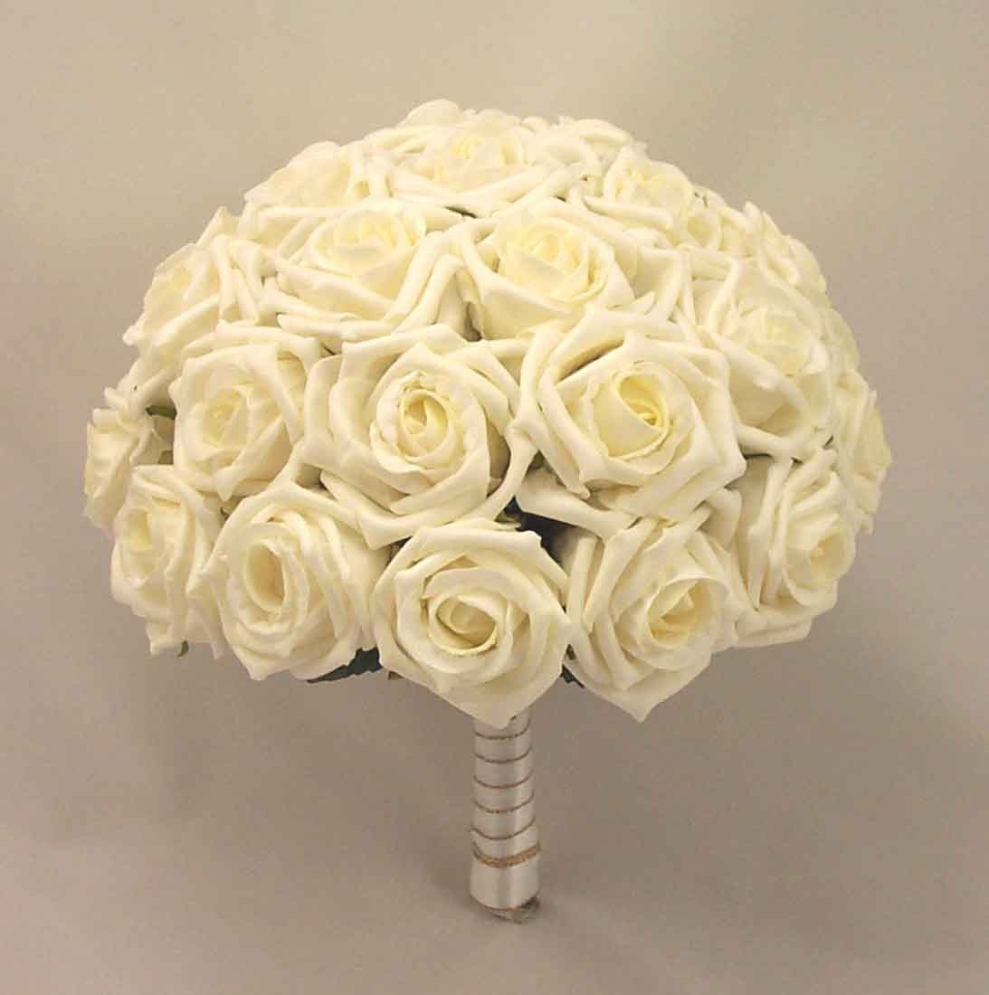 Large Ivory Open Rose Table Posy