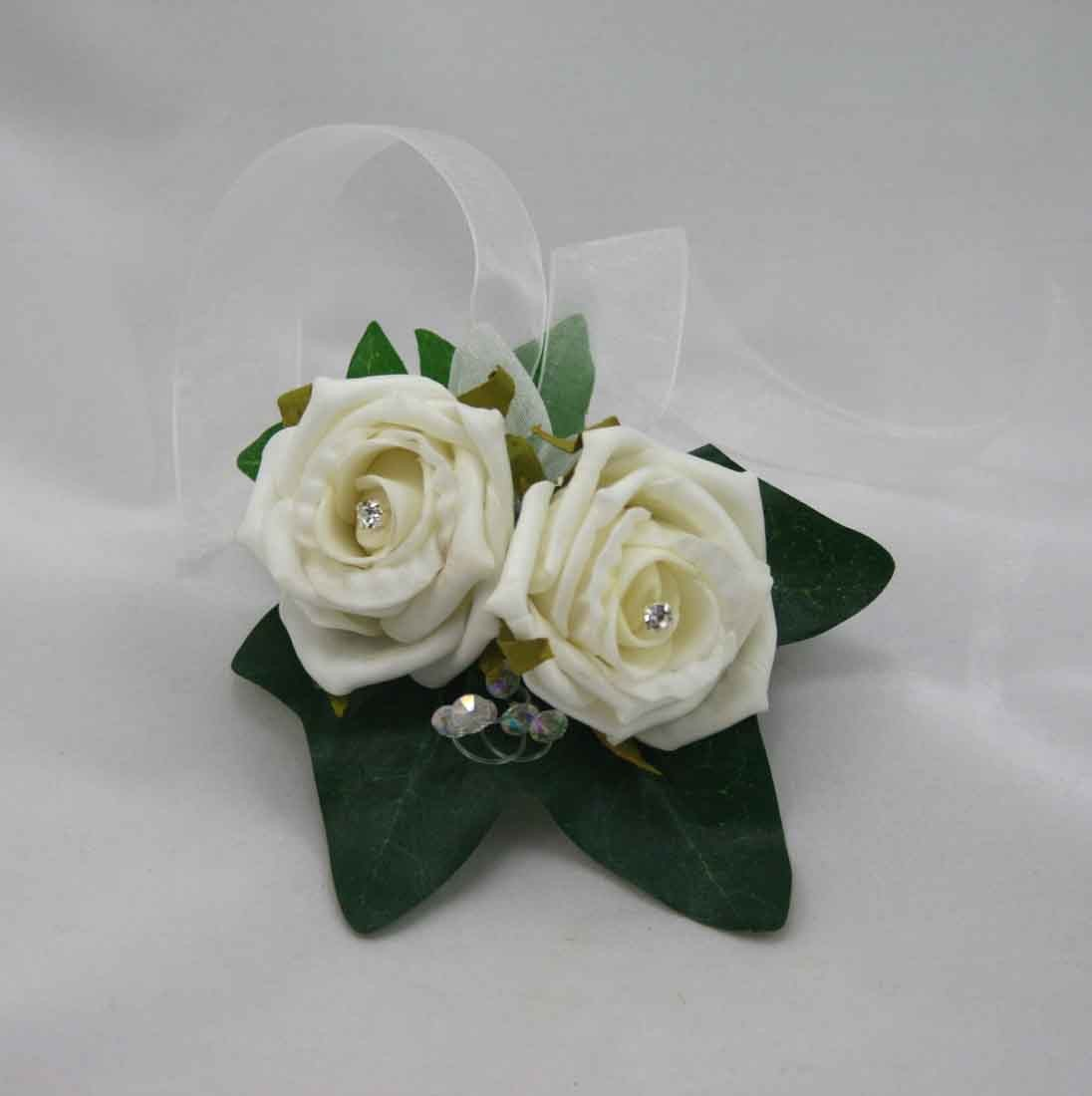 Corsages Ivory Rose Lady S Corsage Silk Wedding Flowers